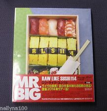 "MR. BIG ""RAW LIKE SUSHI 114 LIVE AT BUDOKAN 2014"" JAPAN +2HQCDs +3DVDs +BLU-RAY"