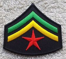 RASTA CORPORAL STYLE STRIPES PATCH Cloth Badge Biker Jacket Rastafarian Flag