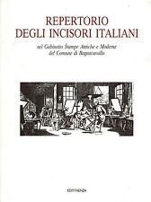 LIBRO Repertorio degli incisori italiani... Comune di Bagnacavallo Stampe