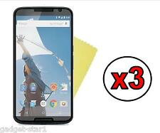 3x HQ MATTE ANTI GLARE SCREEN PROTECTOR COVER GUARD FOR MOTOROLA GOOGLE NEXUS 6
