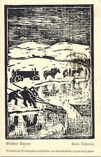 "Winter, Eis, ""Beim Eisholen"", sign. Walther Klemm, 1918"