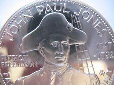 7/8-OZ  JOHN PAUL JONES  MASONIC COIN SILVER.925+ GOLD