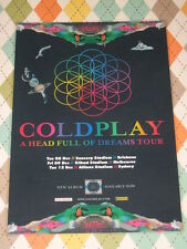 Coldplay - 2016 Australian Tour - A Head Full Of Dreams -  Laminated Tour Poster