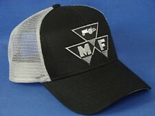 Massey Ferguson Hat - Black Gray Mesh - Triangle Logo
