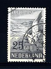 NETHERLANDS - OLANDA - PA - 1951 - Gabbiano - 25 cent. azzurro nero