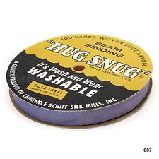 """Woven Edge Seam Binding Ribbon 100% Rayon 100 yds Violet """"Hug Snug"""" made in USA"""