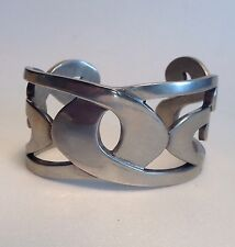 Winterthur Newport Cuff Bracelet Handcrafted Polished Pewter Chippendale Design