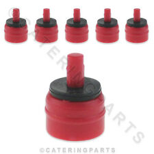 PACK OF 6 x T&P 0.25 LITRES PER MIN SOLENOID VALVE RESTRICTORS RED DISHWASHER
