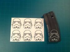 """STORM TROOPER HELMET"" Magazine Sticker 6 Pack, Star War, AR 15, AK, GREY!"