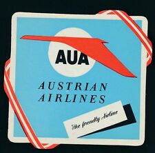 61546) Aufkleber Label sticker, AUA The friendly Airline..., um 1960 R!