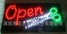 Flashing Red Open with green white Scissor led new window Shop signs