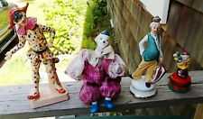 ~~ LOT OF 5  CLOWNS/JESTER  FIGURINES ~~ NICE COLLECTABLES ~~ MUST SEE ~~