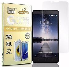 ZTE ZMAX PRO Z981 [2 PACK] HD Clear Tempered Glass Screen Protector 9H Hardness