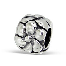 Flower Bubbles Love Sterling Silver European Charm Bead  4413