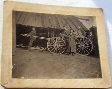 Vintage Antique Occupational Comical Photo Horse Play Cart Wagon Lumber Yard