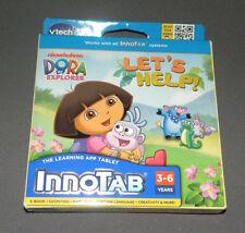 Innotab 2, 3 Dora the Explorer Let's Help Game Software e-Book Vtech NEW