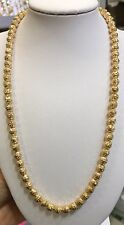 18k Solid Yellow Gold Balls Necklace 18 Inches 18.13 Grams