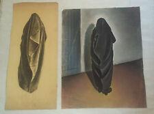 1 PASTEL ORIENTALISTE & son étude par CONRAD MEILI - signé & daté 1931