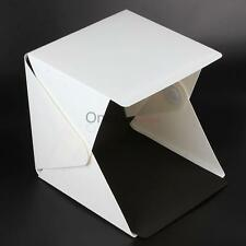 Portable Folding lightbox Photography Studio Softbox LED Light Box 2 Backdrop