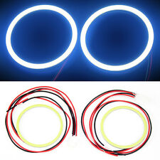 2x 80 MM COB LED Angel Eyes Halo Ring Bulb Car Fog light Lamps For Maruti