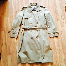 Vintage Classic English Khaki Long Men's Trench Coat By Invertere