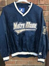 Vtg Starter Notre Dame Fighting Irish Pullover Jacket Men's Sz L Blue Rare 90's