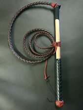4ft Red Hide Stock Whip Stockwhip, 6 crackers, free post