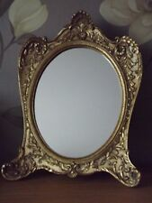 Gold Ornate Mirror Retro  Oval Shabby Chic Style Frame