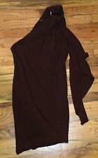 Jean Paul Gaultier Femme On Shoulder Dress Wood Ring Goddess Grecian 6 Gown