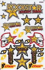 New Rockstar Energy Motocross ATV Racing stickers/decals. 1 sheet (st97)