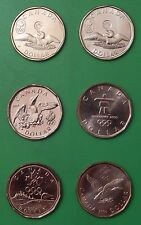 2004-2014 Canada Complete Six Lucky 1 Dollar Set From Mint Rolls