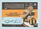 JUSTIN SMITH RICHARD SEYMOUR 2001 CONTENDERS ROUND NUMBERS RC AUTOGRAPH AUTO