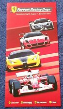 Ferrari racing Days Hockenheim 2013 Flyer no brochure depliant livre book press