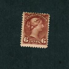 1890  #  43 * FH  TIMBRE  CANADA  STAMP  QUEEN VICTORIA  ISSUE