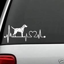 K1045 Dalmatian Heartbeat© Dog Decal Sticker for Car Truck SUV Van LAPTOP