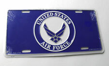 USAF US Air Force Wings Metal Auto License Plate 6 x 12 inches made in USA