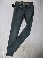 DR.DENIM Damen Blue Jeans Stretch Röhre W25/L34 extra low waist slim fit tube