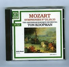 CD MOZART TON KOOPMAN SYMPHONIES # 25/29/33