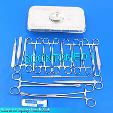 CANINE Spay Pack | 19 Instruments+Box Veterinary SURGICAL INSTRUMENTS