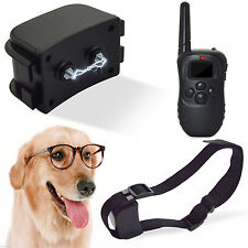 Dog Training Anti-Bark Electric LCD Rechargeable  Shock E-Collar Remote Control