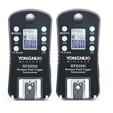 YONGNUO RF605N RF605 RF-605 Flash Trigger Strobe Trigger with LCD for Nikon 2pcs
