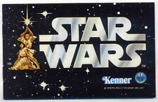 STAR WARS REPRO 1977 . KENNER ACTION FIGURES TOY BROCHURE CATALOGUE . NOT DVD