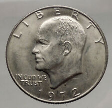 1972 President Eisenhower Apollo 11 Moon Landing Dollar USA Coin Denver  i46172