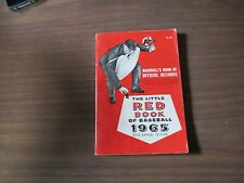 1965 THE LITTLE RED BOOK OF BASEBALL