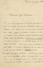 Lettera su Carta Camera dei Deputati del Regno d'Italia inviata da Torino 1861