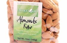 12oz Gourmet Style Bag of Raw Californian Supreme Almonds [3/4 lb.]