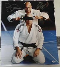 Georges St-Pierre & Royce Gracie Signed UFC 16x20 Photo PSA/DNA COA GSP Picture