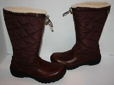 Womens $298 UGG Australia Snowpeak Brown Waterproof Boots Size 7