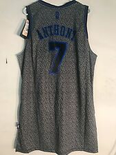 Adidas Swingman NBA Jersey NEW YORK Knicks Carmelo Anthony Grey Static sz XL