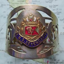 Old RMS Berengaria Cunard White Star Line  Silver Plated & Enamel Napkin Ring